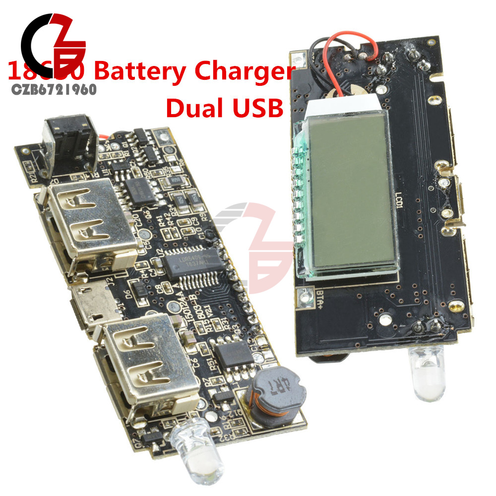Dual Usb 5v 1a 21a Mobile Power Bank 18650 Battery Charger Pcb Modul 1 Output Module Board