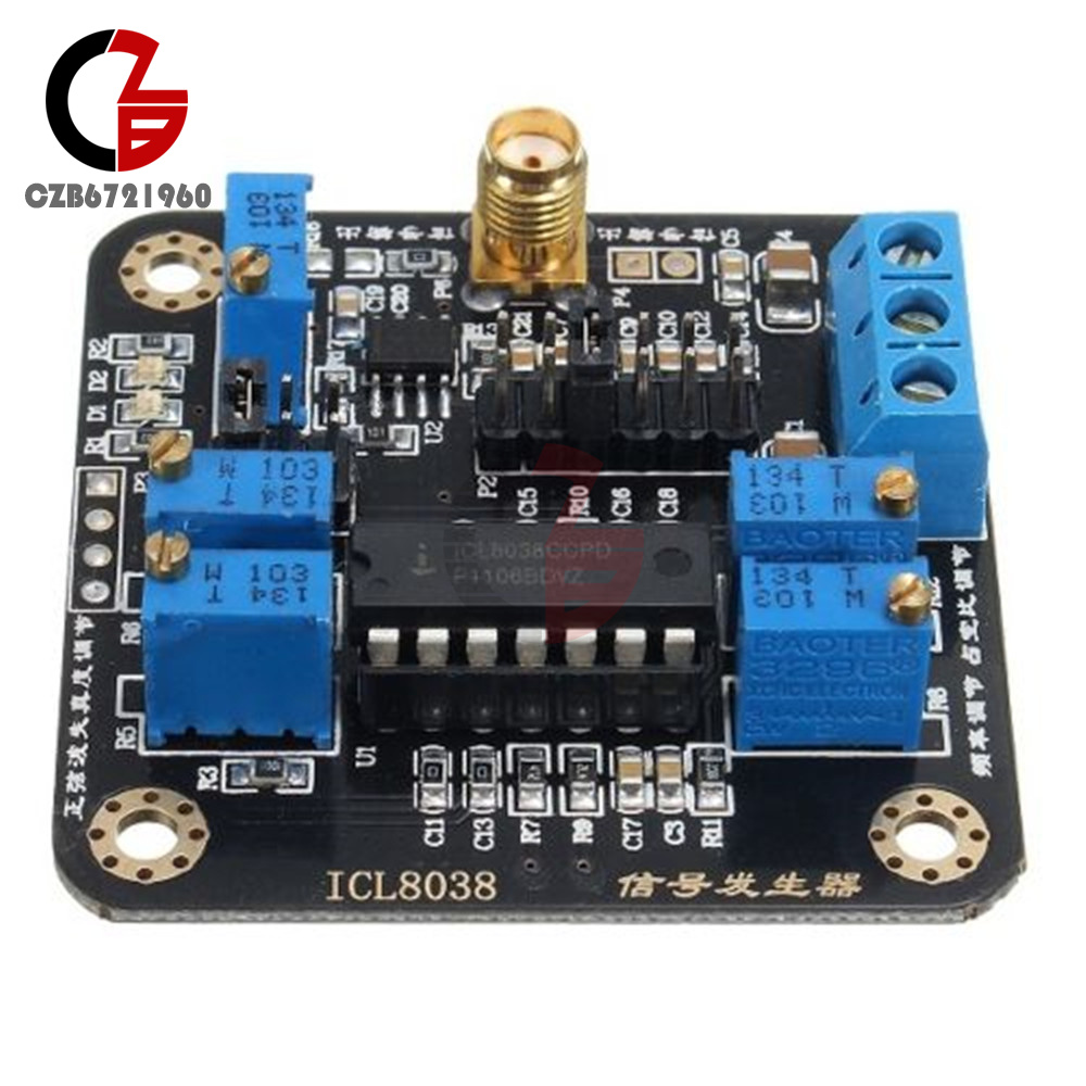 Icl8038 Low Frequency Signal Source Generator Module Sine Square Triangular Wave Circuit The Waveform Is A Monolithic Integrated Capable Of Producing High Accuracy Sawtooth And Pulse Waveforms