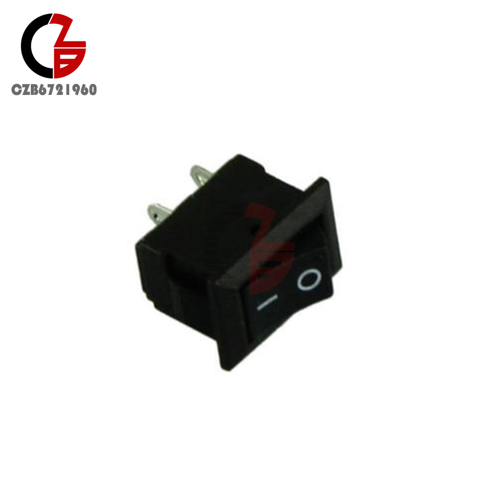 10pcs Car Truck Boat Round Rocker 2 Pin Kcd1 101 On Off Toggle Spst Switch Switches Contact Positions Design It Can Be Applied As The For Additional Electronical Equipment Inside And Outside