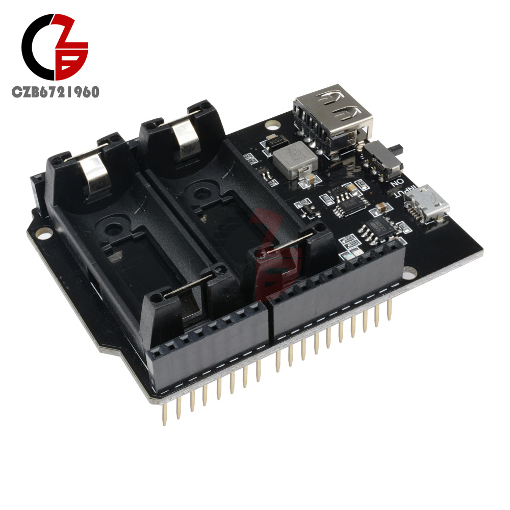 Details about 5V ESP8266 ESP32 16340 Battery Shield Power Bank Power Module  for Arduino UNO R3