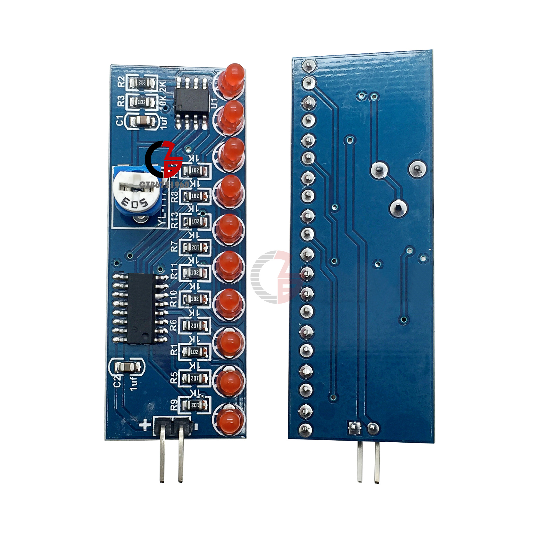 2pcs Led Chaser Flowing Water Light Ne555 Module Cd4017 Circuit Electronic Circuits For Beginners Driver Cycle