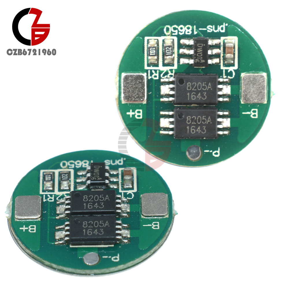 2pcs Dual Mos 18650 Battery Protection Board Charge For Circuit Images Lithium