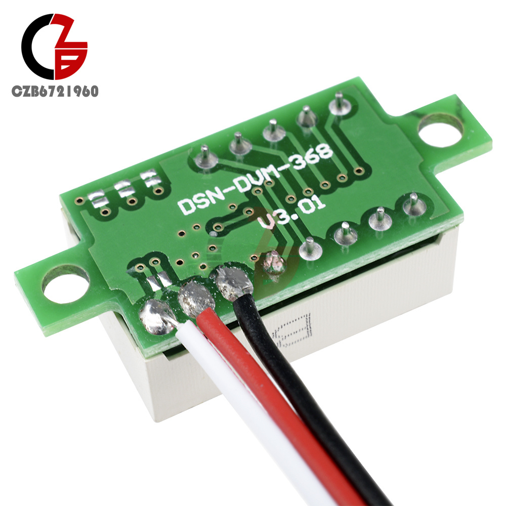 Green Led 036 Dc 0 30v Panel Voltage Meter 3 Wires Digital Wire Voltmeter Wiring Item Design Display Color Feature Measurement Range