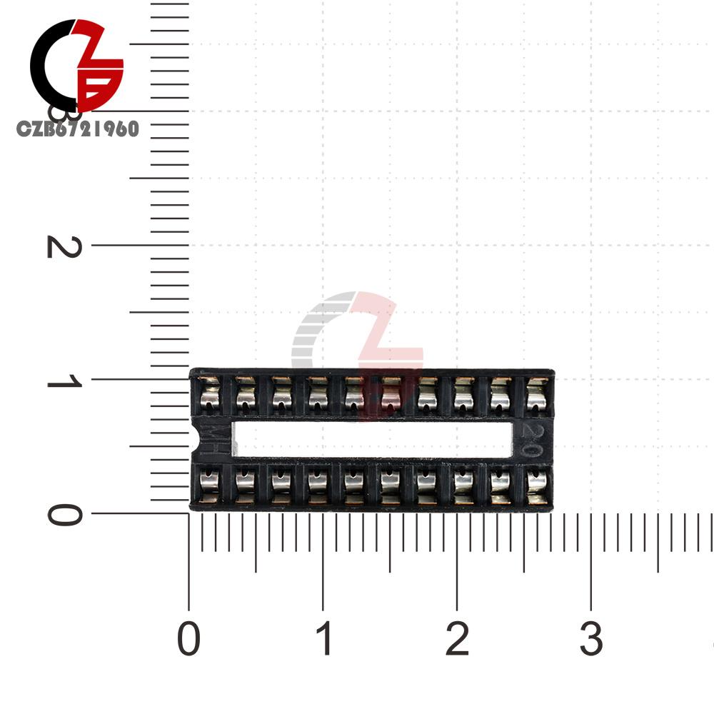 10pcs 20 pin dip ic sockets adaptor solder type integrated circuit socket