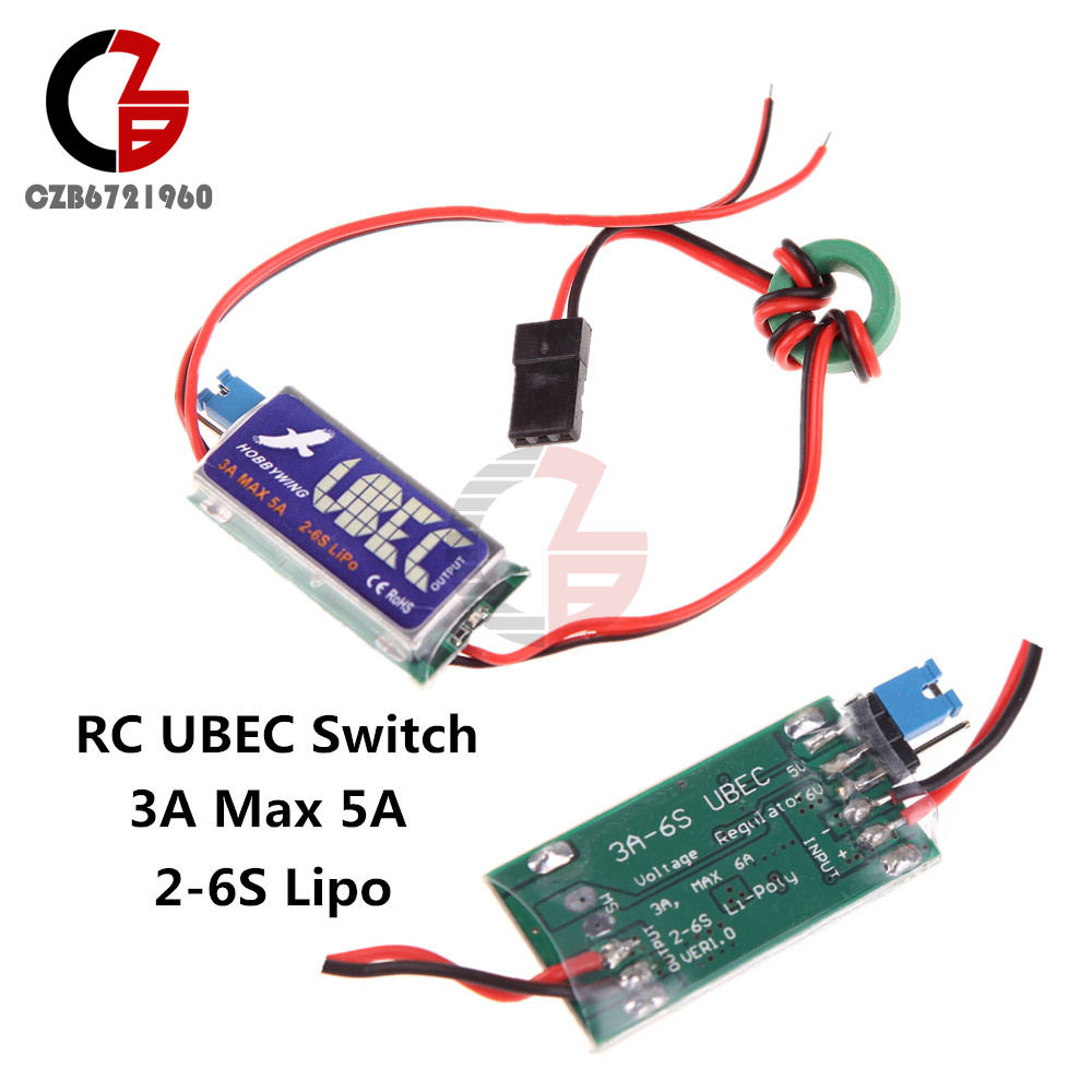 wiring a ubec hobbywing rc ubec switch regulator 5v 6v 3a max 5a 2-6s ... wiring a fuel gauge in a jeep