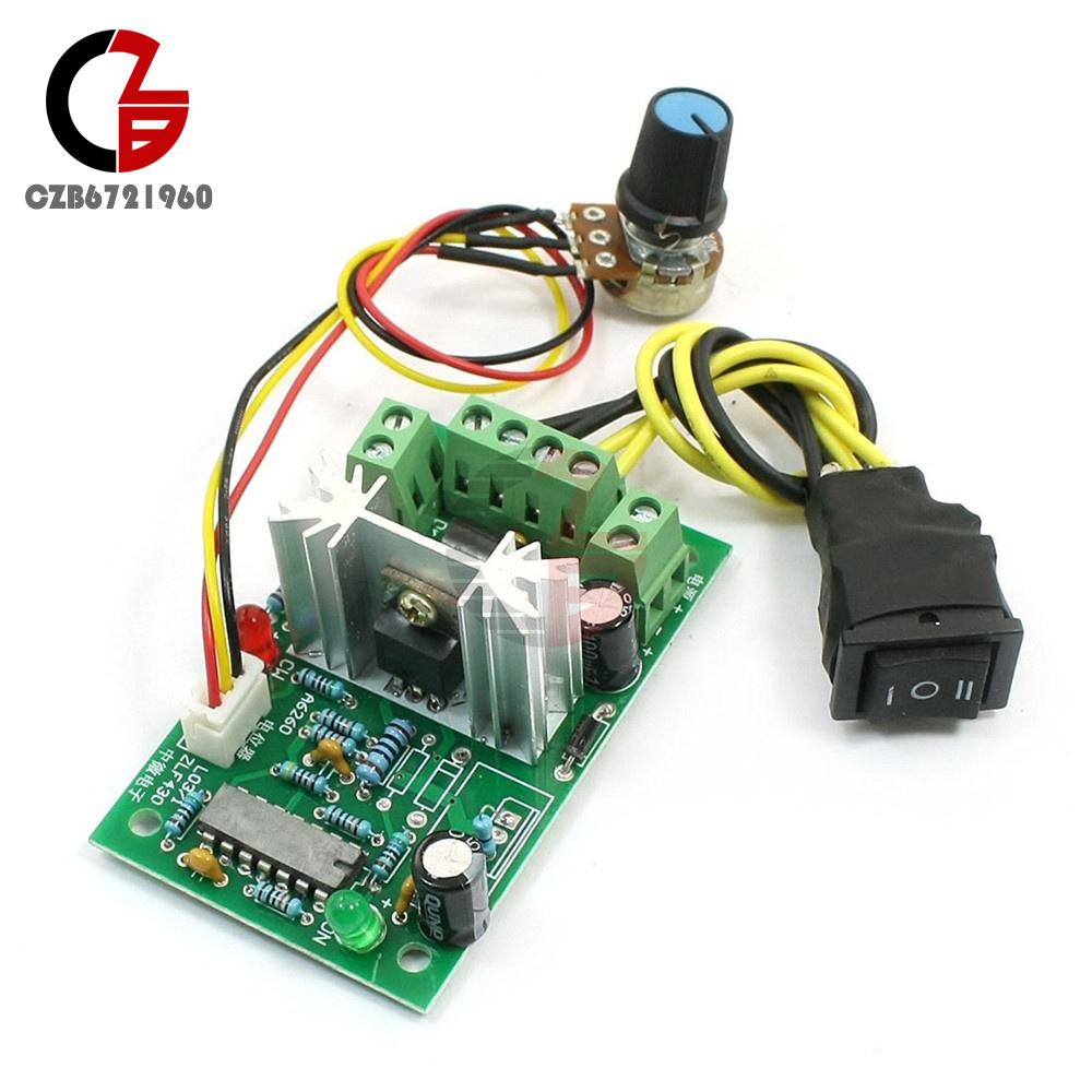 Dc 10 36v Motor Speed Controller Reversible Pwm Control Forward Ac Circuit Reversing Polarity Reverse Switch