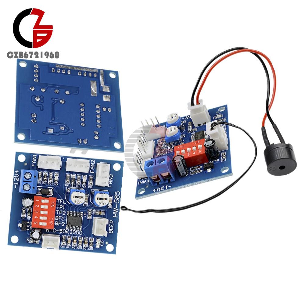 Dc 12v Fan Temperature Control Speed Controller Cpu High