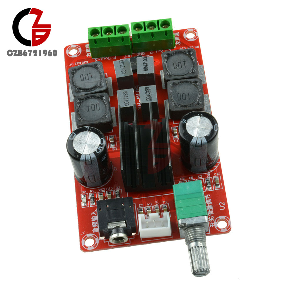 Tpa3116d2 250w Digital Amplifier Board Class D 12v 24v Dual Channel Circuit Tpa3118d2 Subwoofer Dimensions Approx Length 8cm Width 48cm Height 2cm Product Parameters Audio Type Input Voltage Dc 5 Operating Frequency 20hz