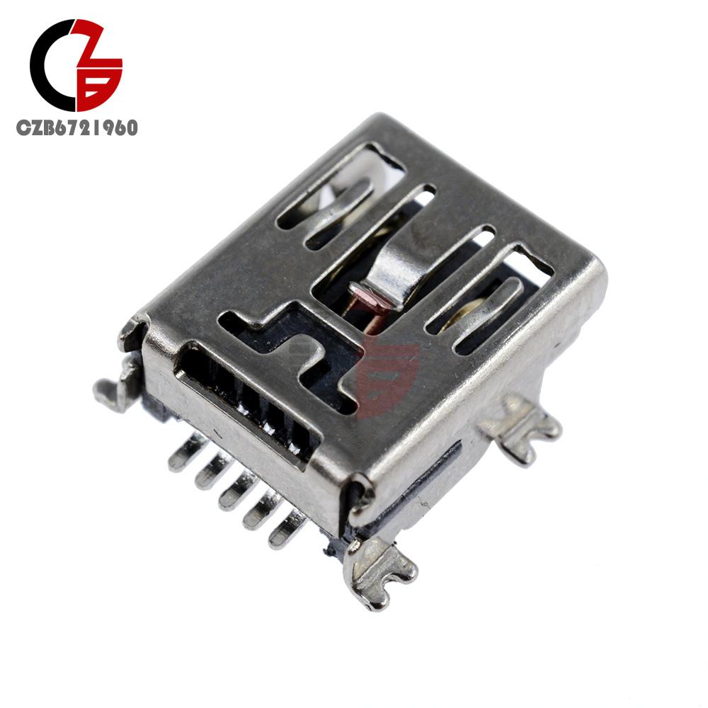 10Pcs Mini USB Type B 5Pin Female SMT Socket Connector