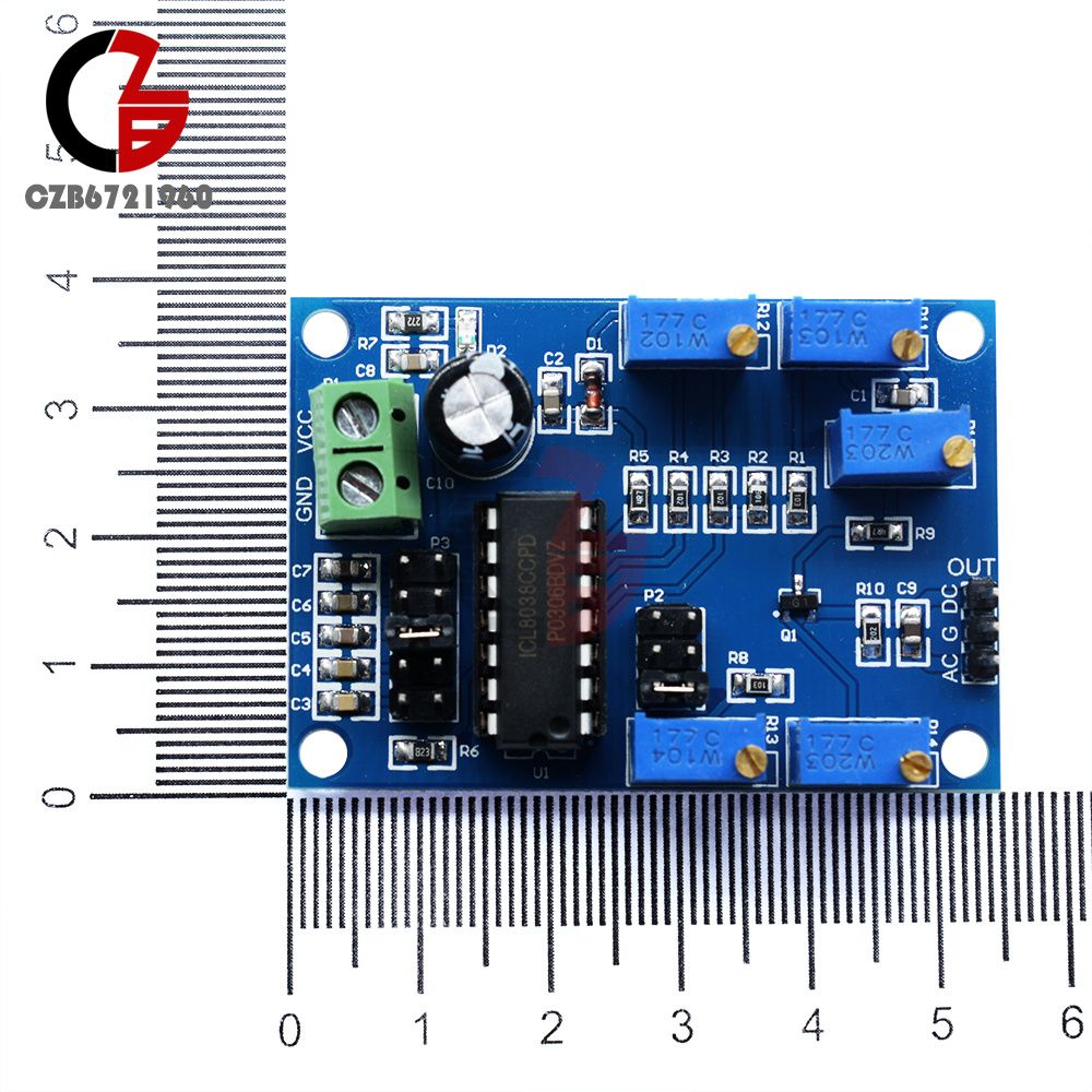 Icl8038 Low Medium Frequency Waveform Signal Generator Source Audio Circuit The Lc Module Is Designed For Common Ranges It Adjustable From 5 Gears And Generates Distortion Triangular Waves Square Sine