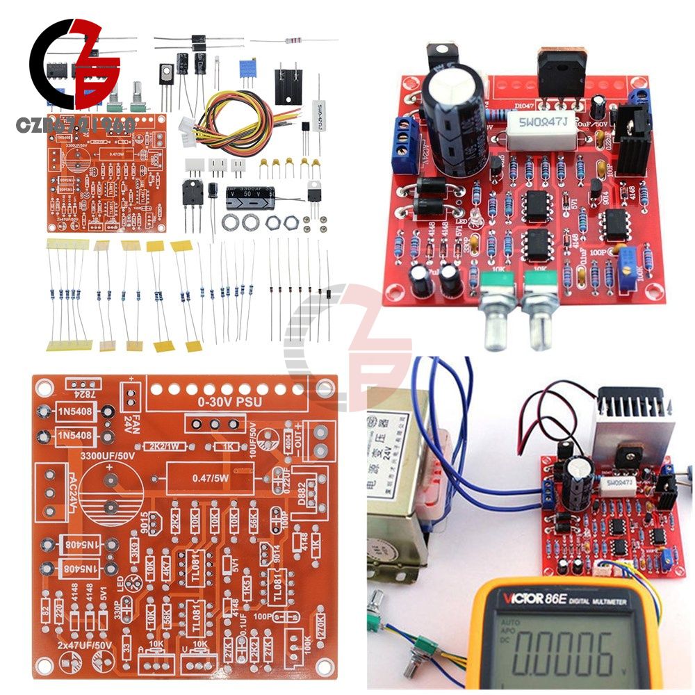 0 30v 2ma 3a Adjustable Dc Regulated Power Supply Diy Kit Short With Circuit Diagram Of Protection