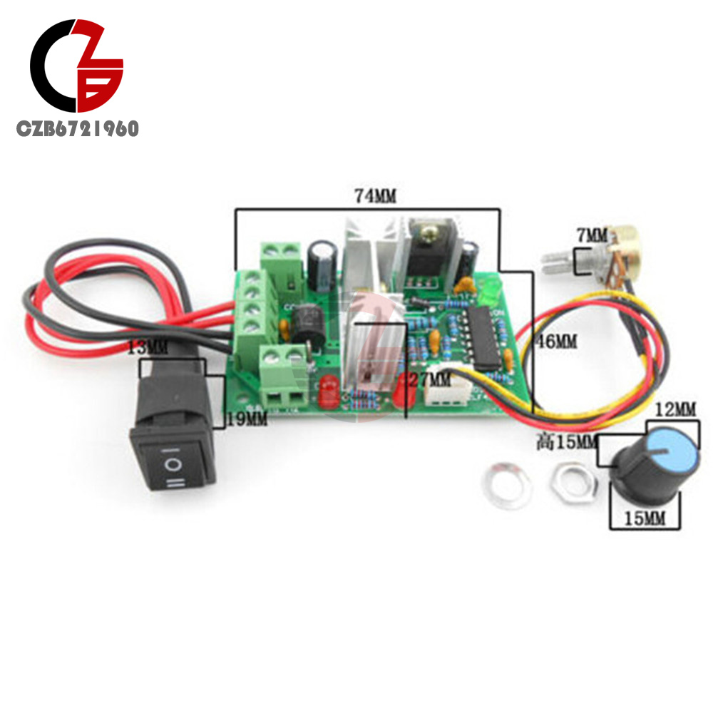 Dc 10 36v Motor Speed Controller Reversible Pwm Control Forward Ac Circuit Reversing Polarity Reverse Switch