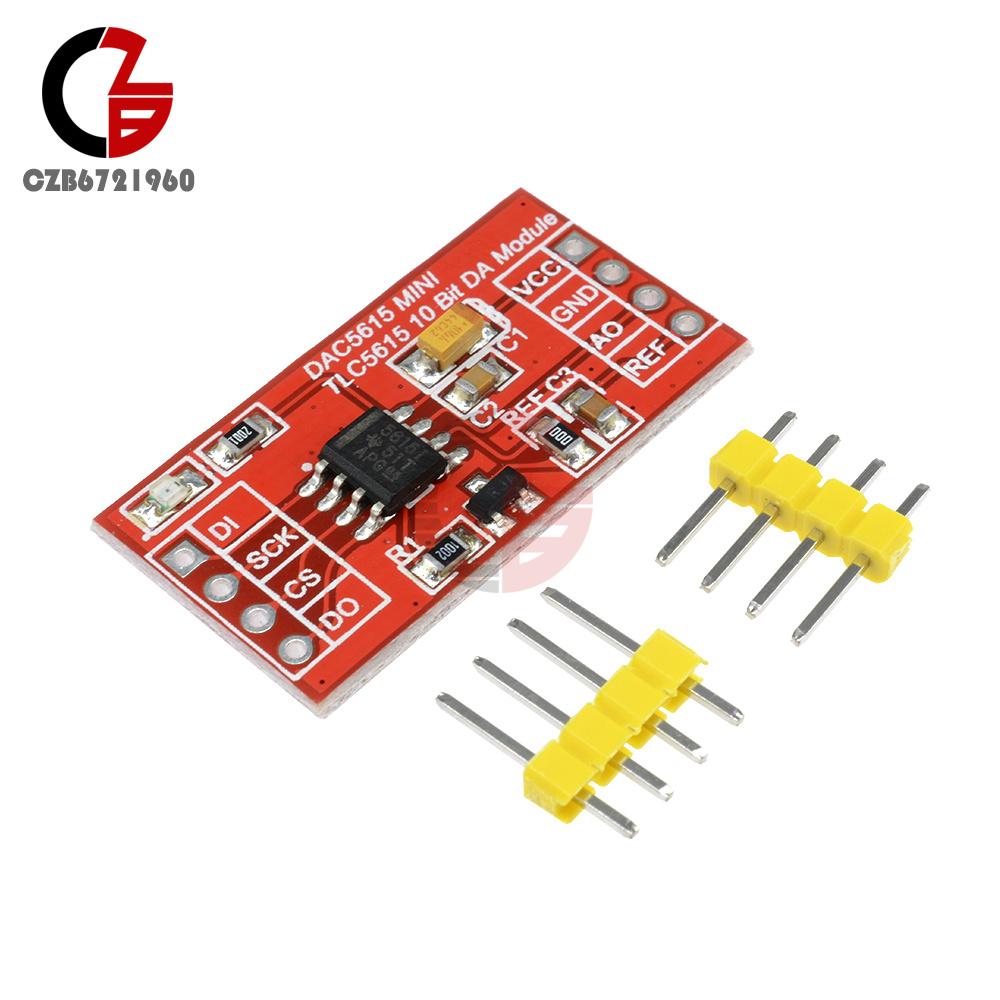 Details about TLC5615 TLC5618 10bit DAC Module Sine Wave Signal Generator  Board Serial Port 5V