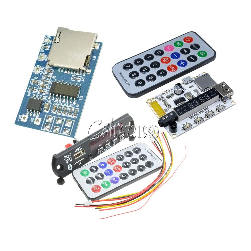 12v Mp3 Decoder Board Wireless Car Bluetooth Usb Tf Fm Radio Audio Basic Control Ir Remote