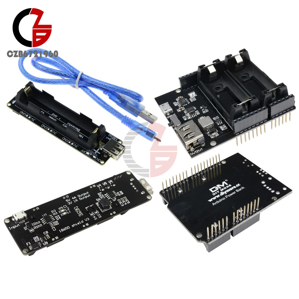 Details about 16340/18650 Lithium Battery ESP8266 ESP32 Power Supply Bank  for Arduino UNO R3