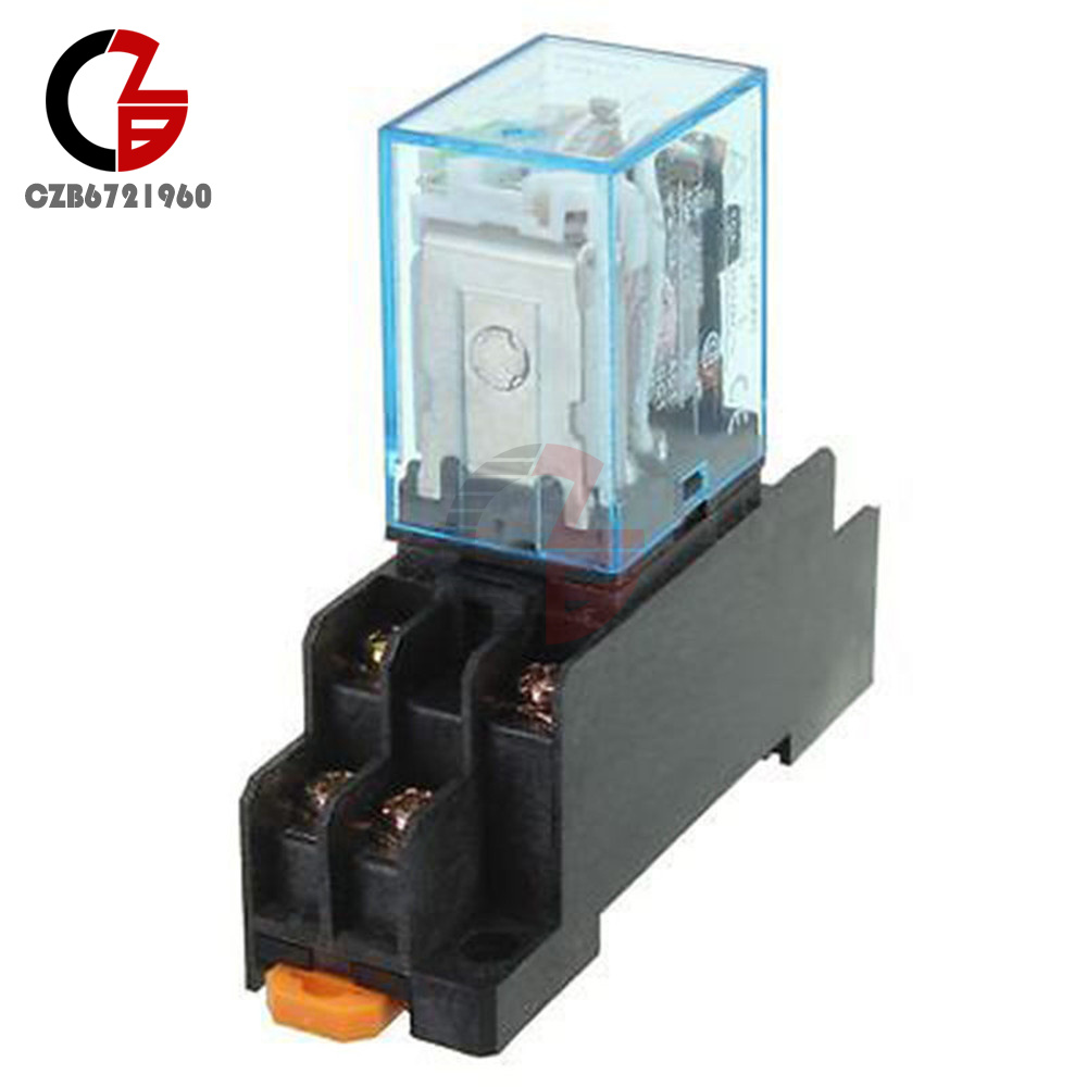 Dc 12v Coil Power Relay Ly2nj 8 Pin Hh62p L Jqx 13f10a With Socket Electrical Normally Open Voltage W 09ac Va 12 Contact Structure Pins 2 Closed Capacity 10a 250vac