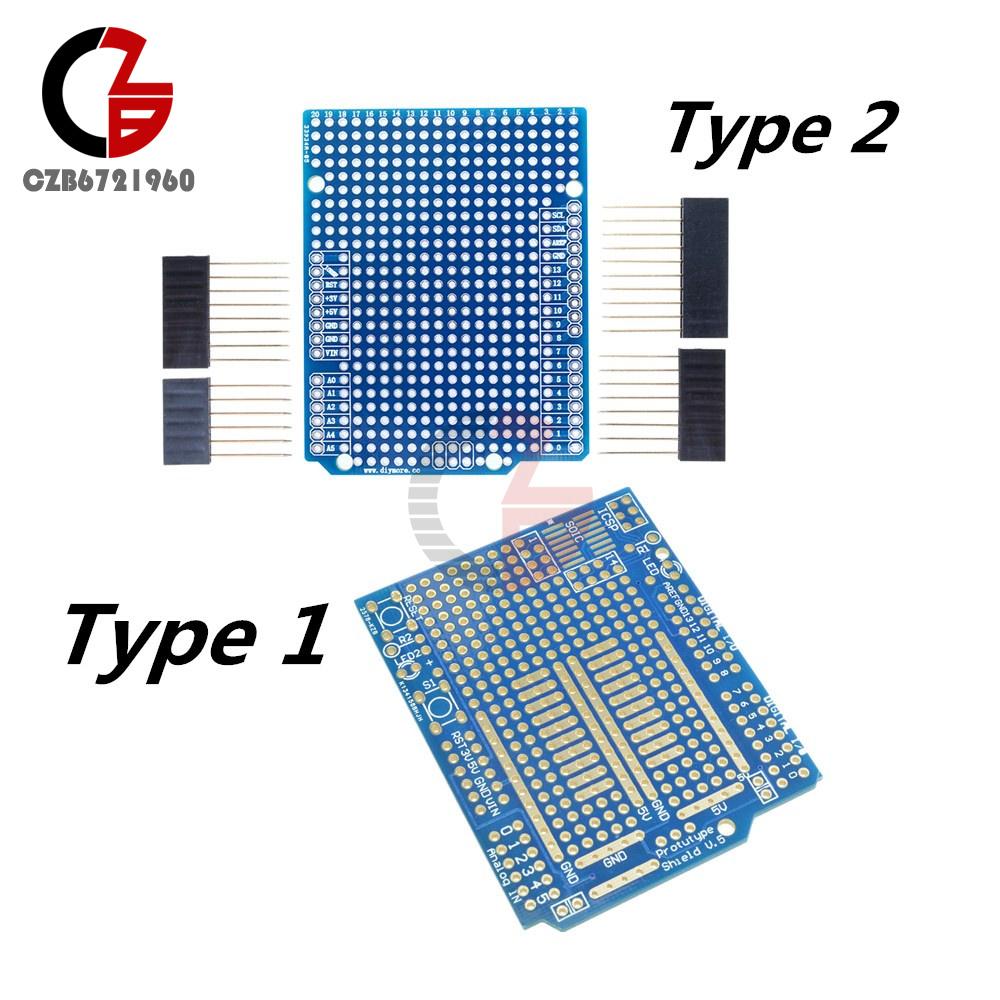 Prototype Shield PCB UNO R3 Board DIY FR-4 Fiber 2mm 2.54mm Pitch for Arduino