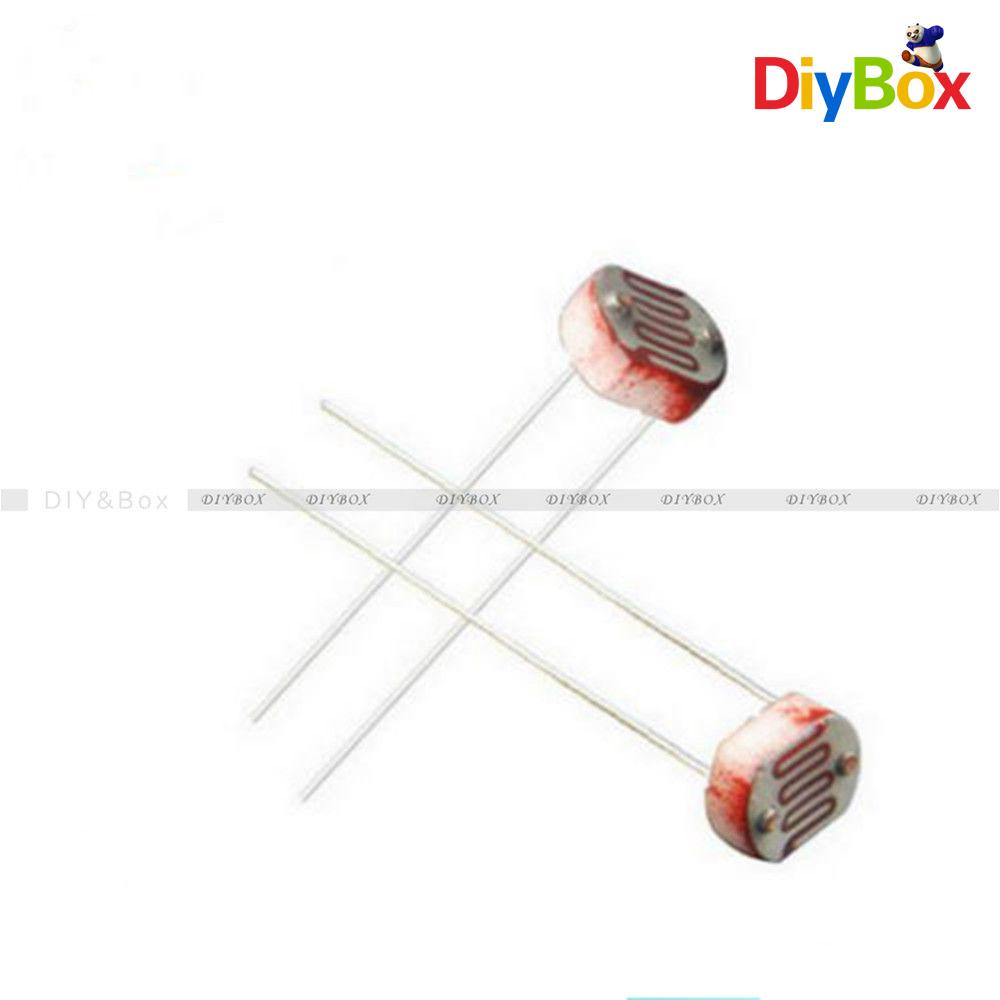 30PCS Photoresistor LDR CDS 5mm Light-Dependent Resistor Sensor ...