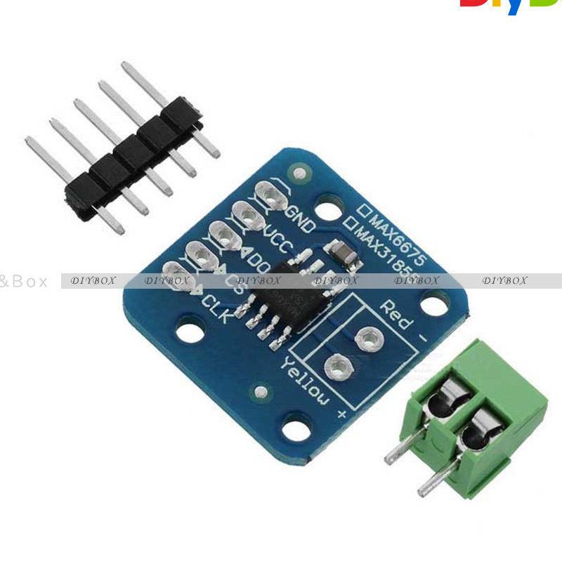 MAX31855/31865/6675 K Type PT100 Temperature Thermocouple Sensor ...