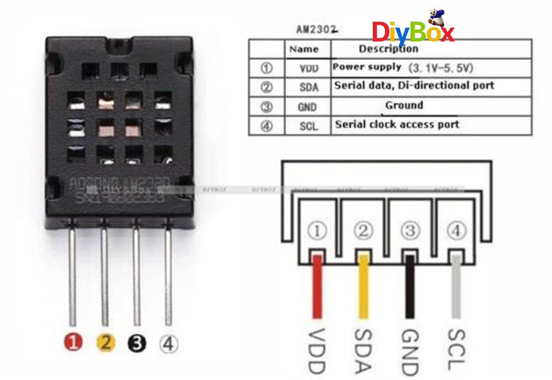 AM2320 Digital Temperature Humidity Sensor Replace AM2302 SHT10 for ...