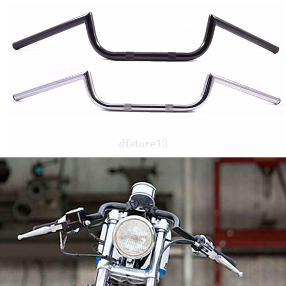 1PCS Silver Motorcycle 7//8 22mm Drag Bar Handlebar M Combo Kit for Cruiser Chopper Cafe Racer