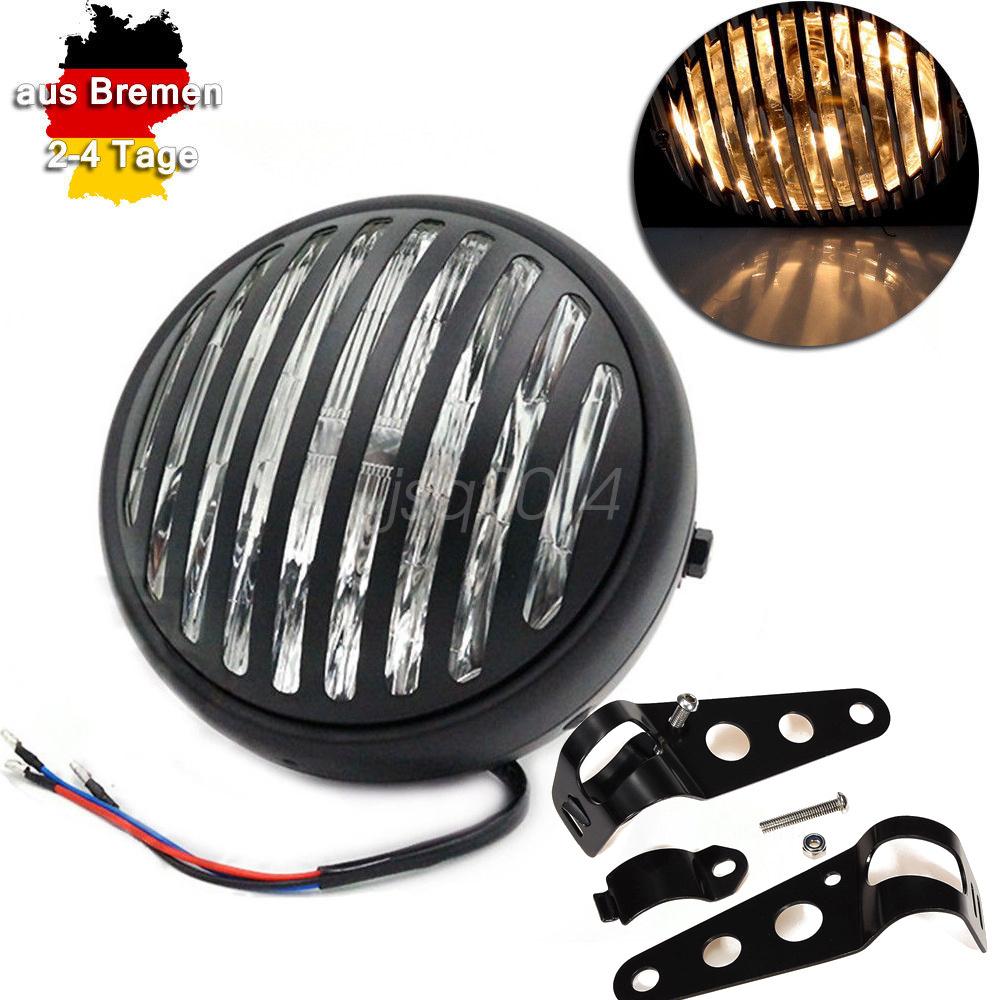 motorrad 7 grill hauptscheinwerfer lampen mit harler f r. Black Bedroom Furniture Sets. Home Design Ideas