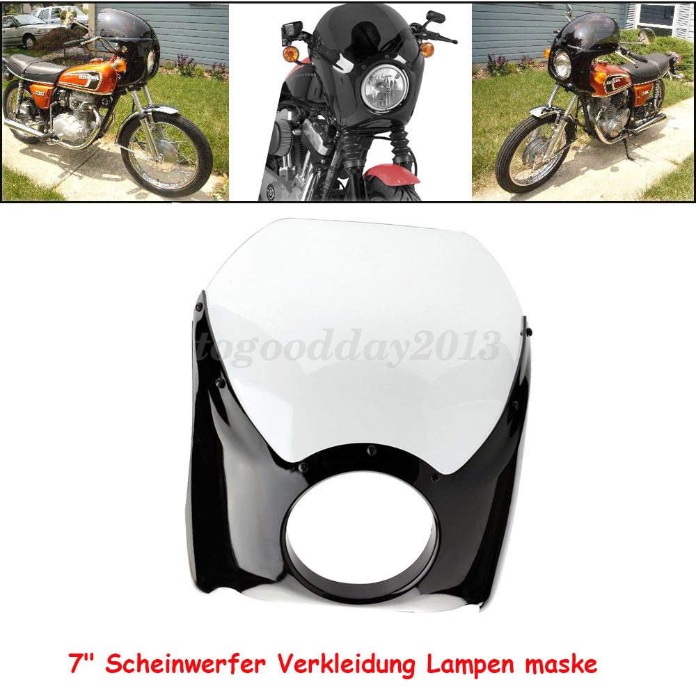 universal 7 scheinwerfer verkleidung motorrad lampenmaske. Black Bedroom Furniture Sets. Home Design Ideas