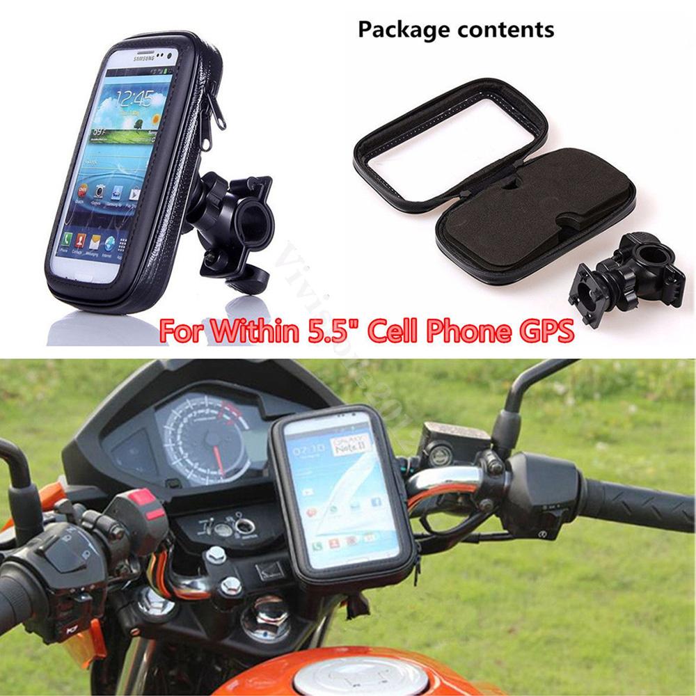 New Bike Bicycle Motorcycle Waterproof Phone Case Bag w// Handlebar Mount Holder