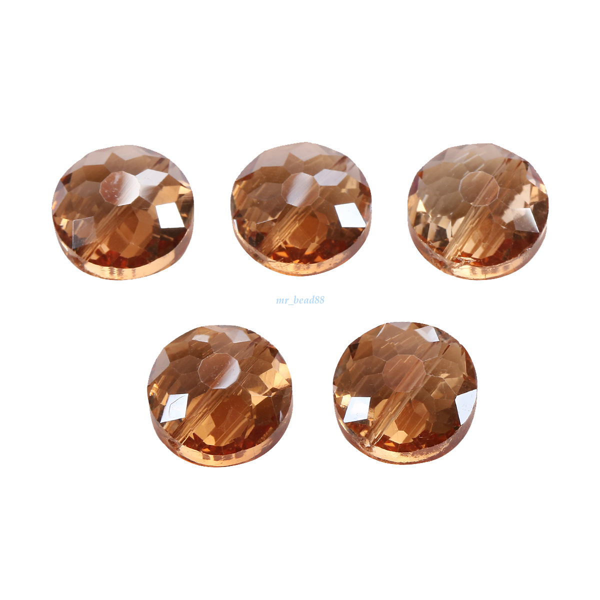 10Pcs 18MM Polish Chic Crystal Flying Saucer Loose Beads DIY Accessories Making