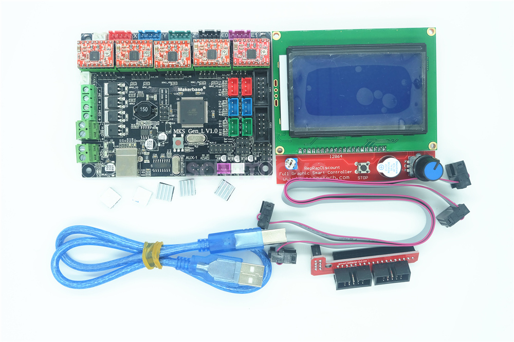 Details about MKS GEN-L Board Replace RAMPS & MEGA 2560 + 12864 LCD  Controller + 5pcs A4988