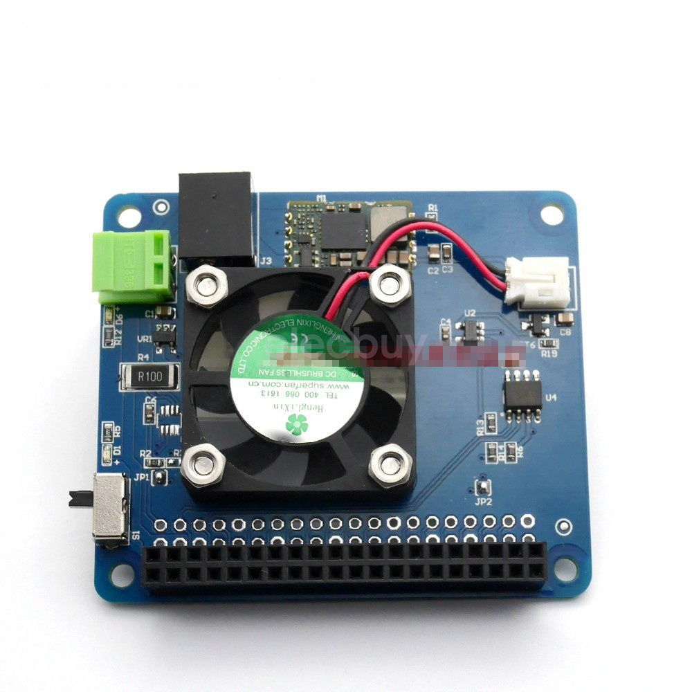 02a5d8c6cae Details about New Fan   Power Supply Expansion Board HAT for Raspberry Pi  3B+