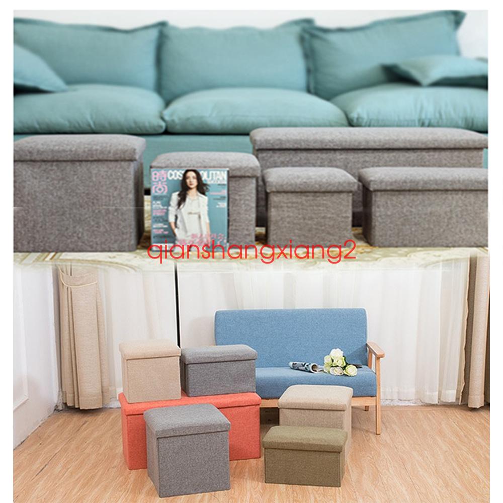 neu aufbewahrungsbox faltbarer sitzhocker polster. Black Bedroom Furniture Sets. Home Design Ideas