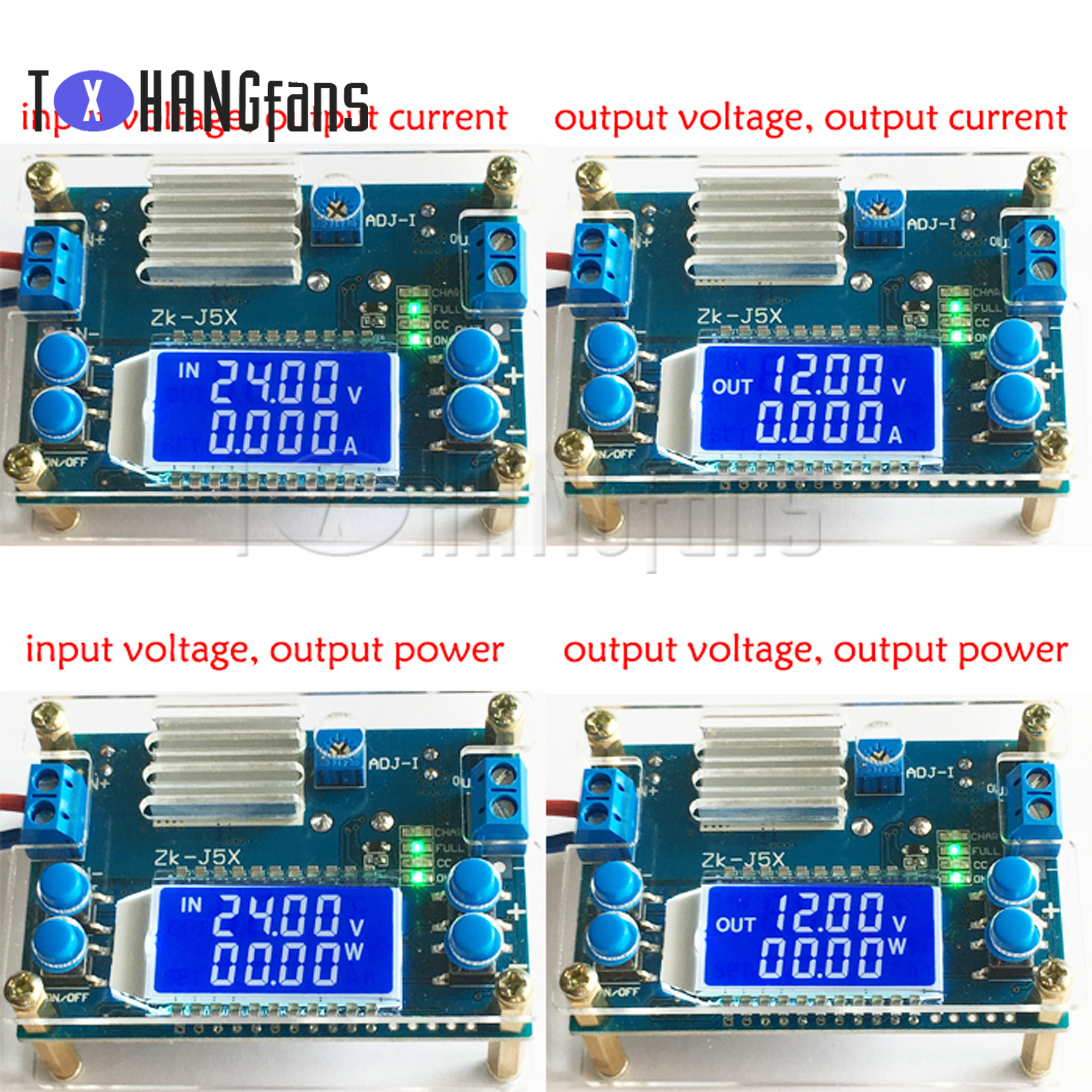 5A 12A adjustable constant voltage constant current LCD button set voltage