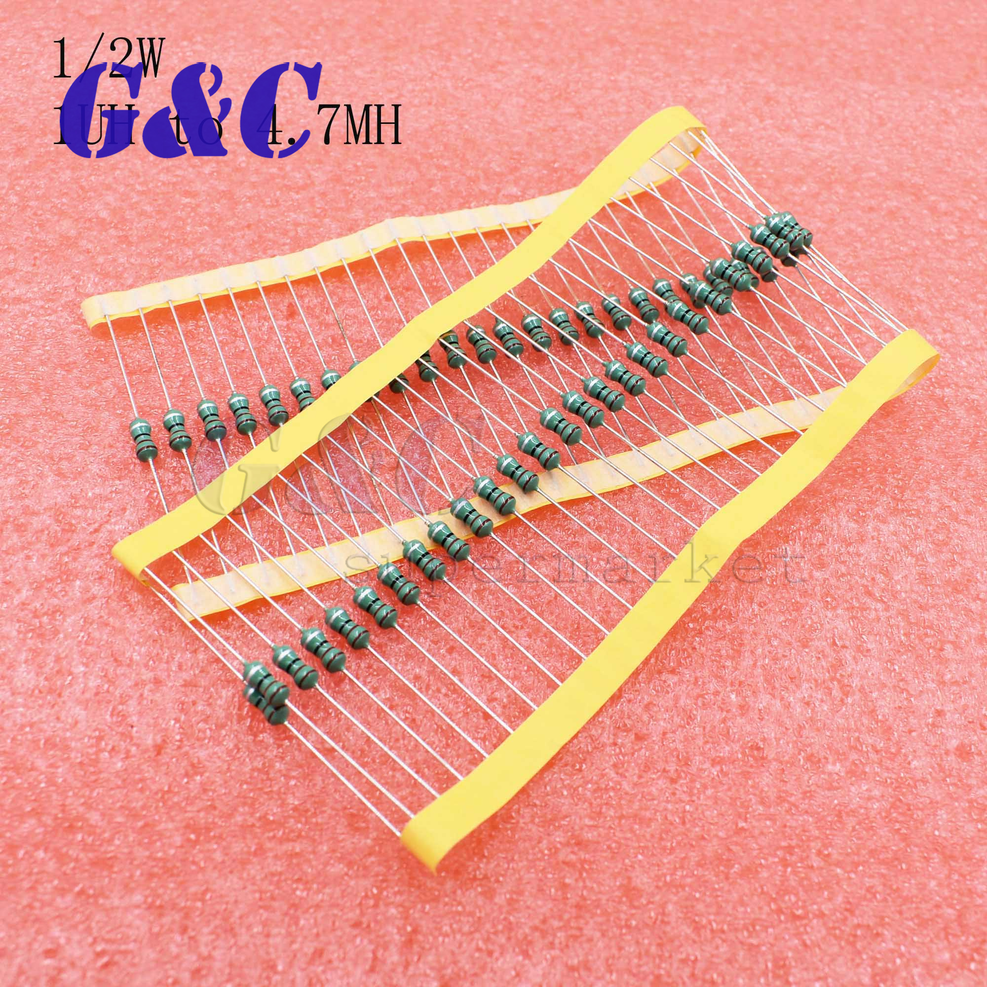 50PCS 0410 Color Ring Inductance 4.7MH 472K 1//2W Axial RF Choke Coil Inductor CA