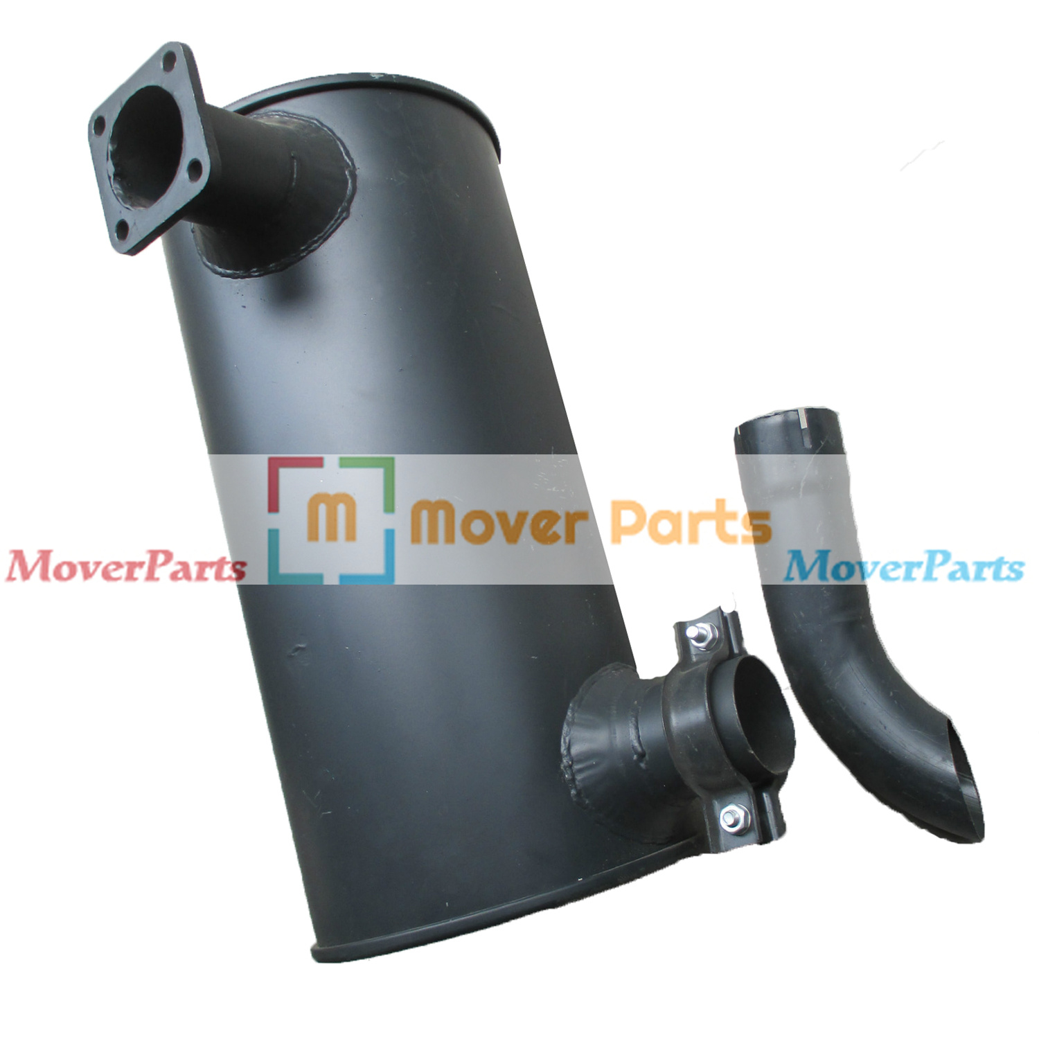 Details about Engine 6BT5 9 Muffler Silencer For Hyundai Excavator R220-5