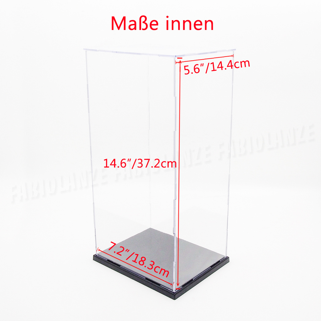 de einzelvitrine 18x14x37cm acryl vitrine klar plexiglas display case staubfrei ebay. Black Bedroom Furniture Sets. Home Design Ideas