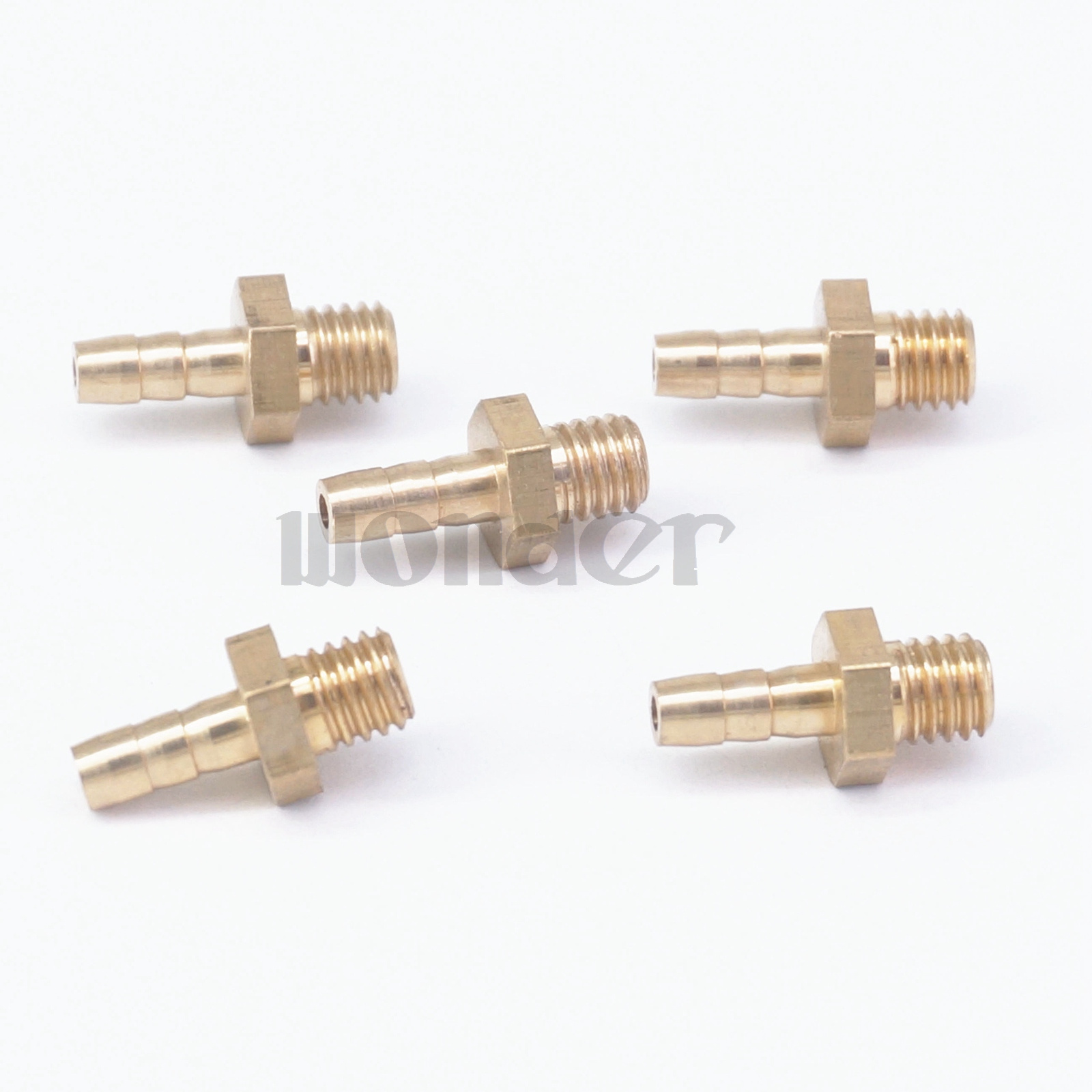 KTS LOT 5 Hose Barb I//D 5mm x M5 Metric Male Thread Brass Coupler Splicer Connector Fitting for Fuel Gas Water