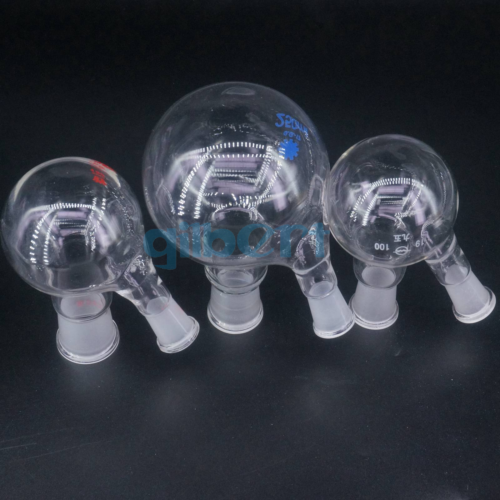 Lab glassware Clearance,24//29,3-neck Glass Round Bottom Flask