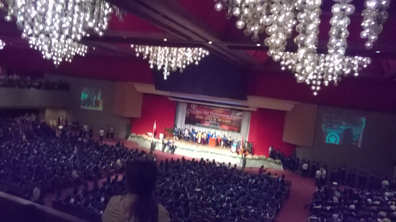 The graduation ceremony.