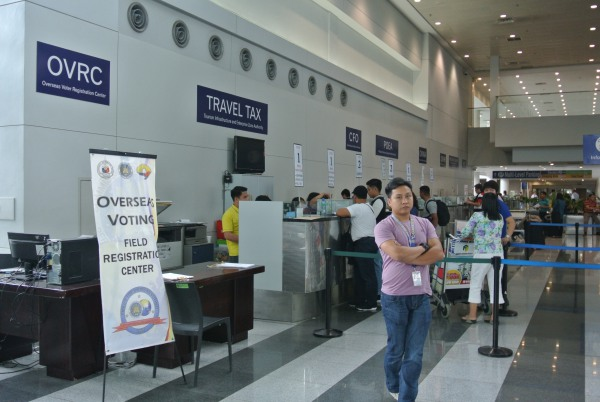 Travel tax, among other government services counters.