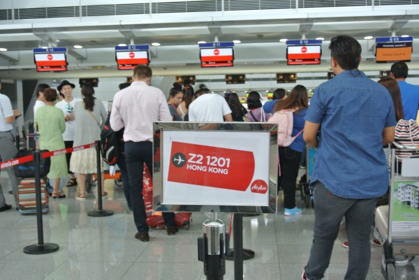 AirAsia Zest Z2 1201 Check-in counter at NAIA 3 on this normal day