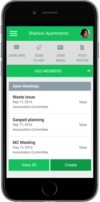 Society Management App for Management Committee, Apartment Association, RWA members