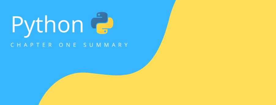 Python – 第一章總結