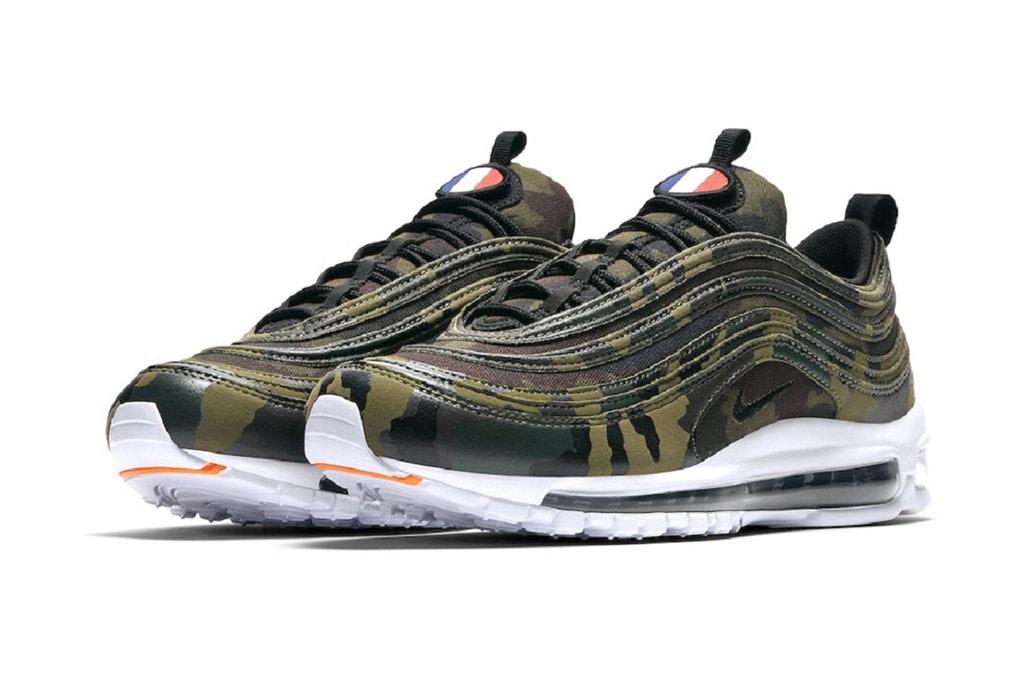 """6df7c970 Nike has officially introduced its plans for the new Air Max 97 """"Country  Camo"""" pack. First seen on the feet of Cleveland Cavaliers guard Isaiah  Thomas, ..."""