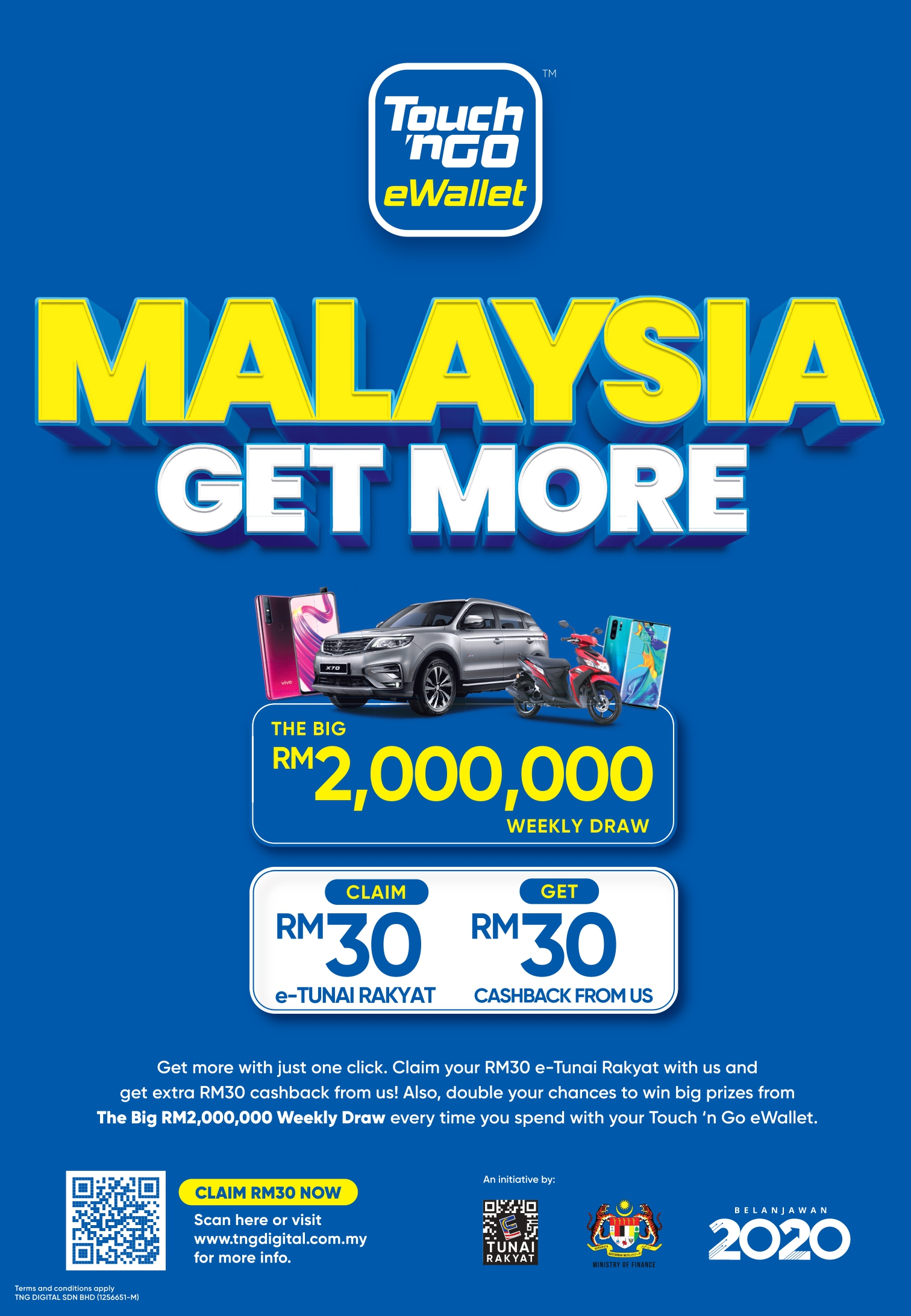 Afo Radio Touch N Go Ewallet Offers Malaysians 100 More E Tunai Rakyat With Hassle Free Benefits