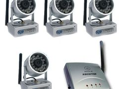Genx4 long range wireless cctv cameras with tv receiver 63 p
