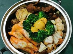 走地鸡腿饭/脆皮烧肉饭 + 凉茶