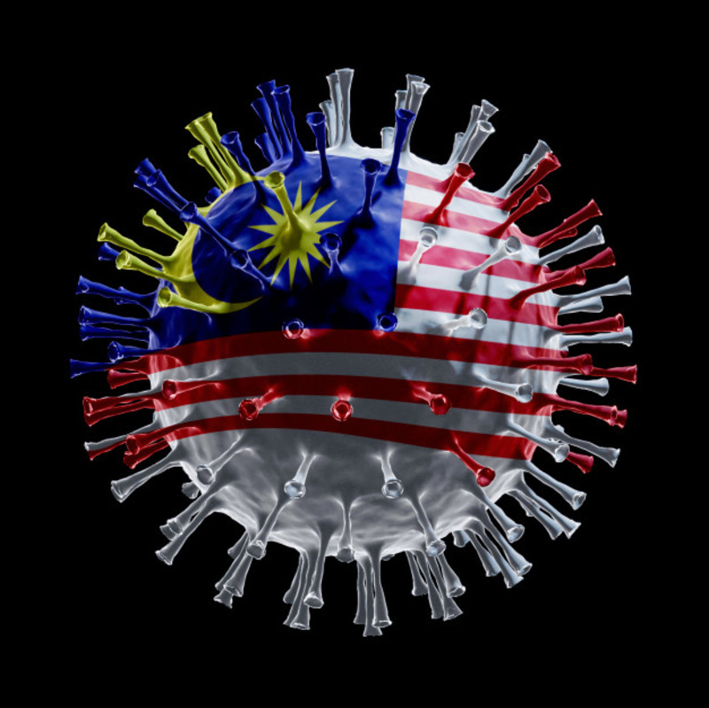 Flag malaysia covid 19 is virus concept 3d rendering 33736 3416
