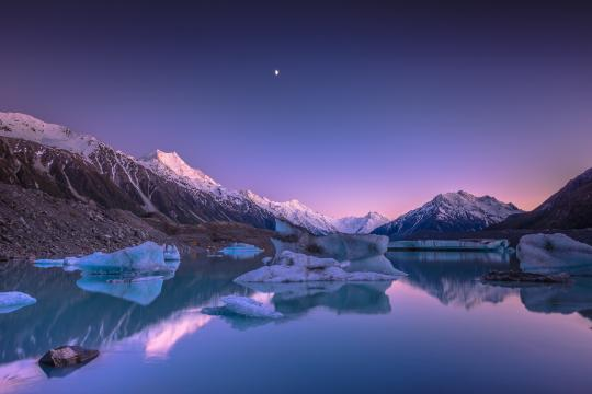 Sunrise at Tasman Lake