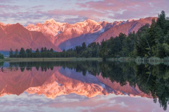 Lake Matheson and West Coast Glaciers